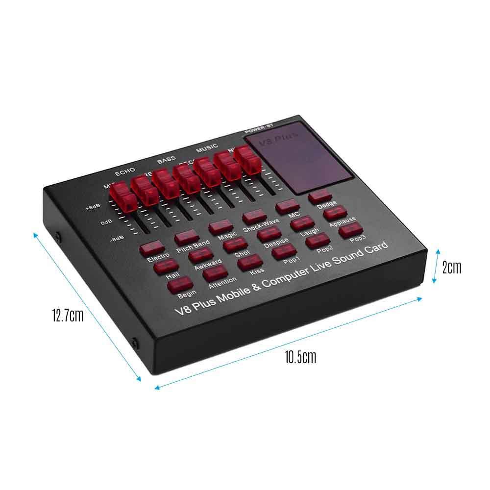 کارت صدا و میز میکس V8Plus