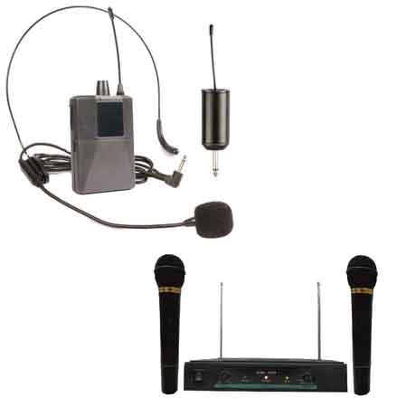 نمونه ای از میکروفون های بی سیم
