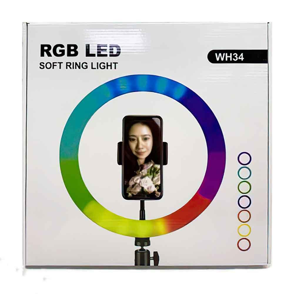 رینگ لایت مدل WH34-RGB