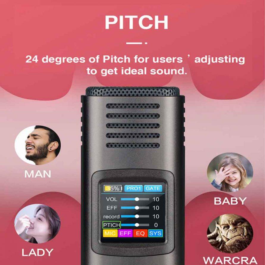 امکان تغییر صدا در HK620 microphone