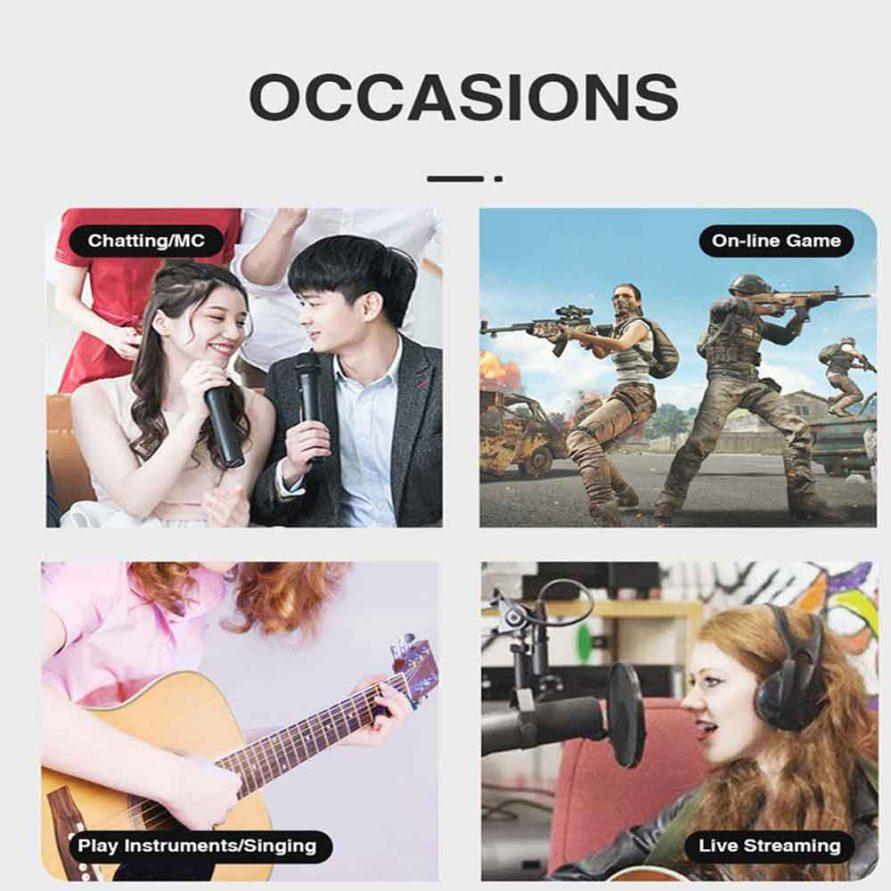 نمونه هایی از موارد استفاده این microphone