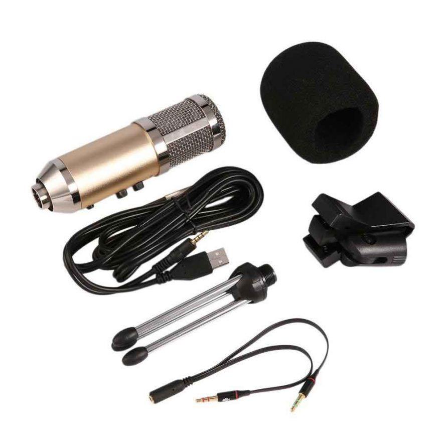 محتویات داخل بسته میکروفون کاندنسر مدل MK-F500TL