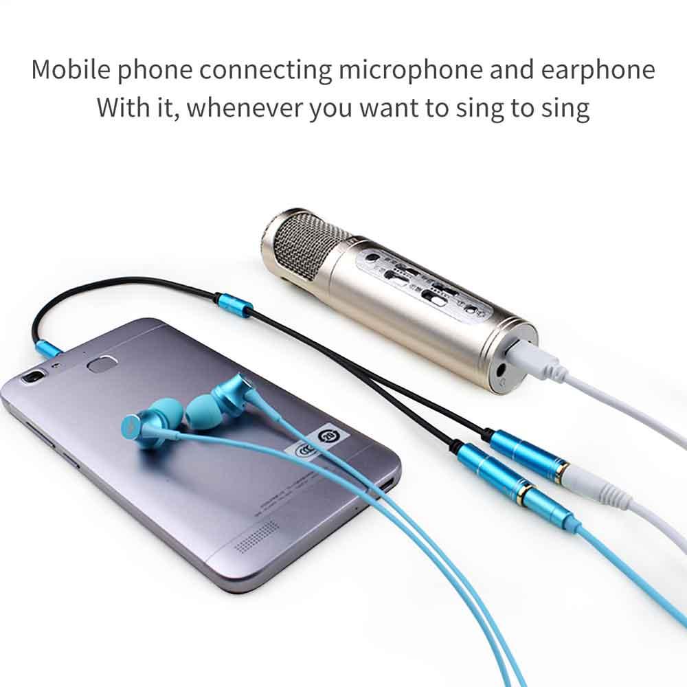استفاده از تبدیل 1 به 2 میکروفون و هدفون برای موبایل