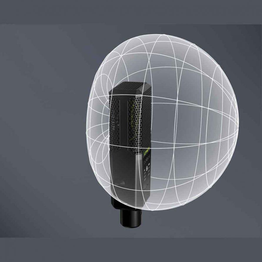الگوی قطبی میکروفون کاردیوئید