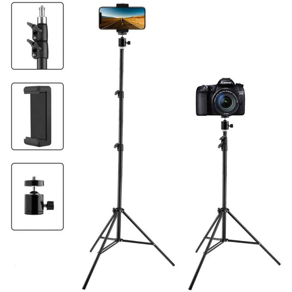سه پایه 160 سانتی متری مخصوص گوشی موبایل و دوربین عکاسی