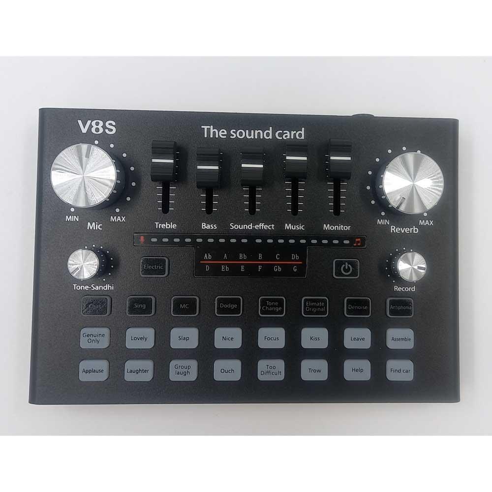 نمای بالای کارت صدا مدل V8S