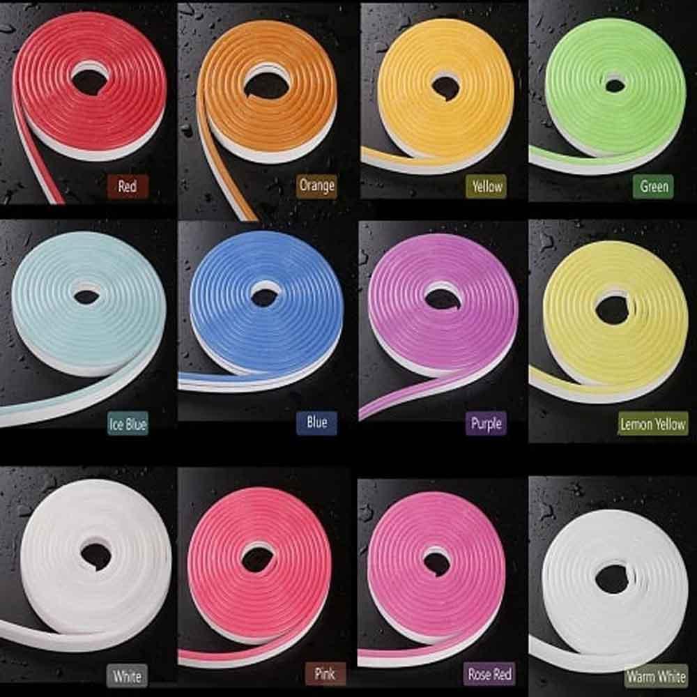 رنگ بندی ریسه نوری نئون فلکسی 5 متری