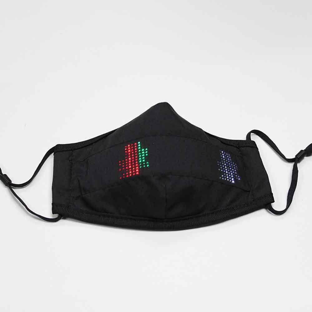 ماسک بهداشتی با پنل LED هوشمند