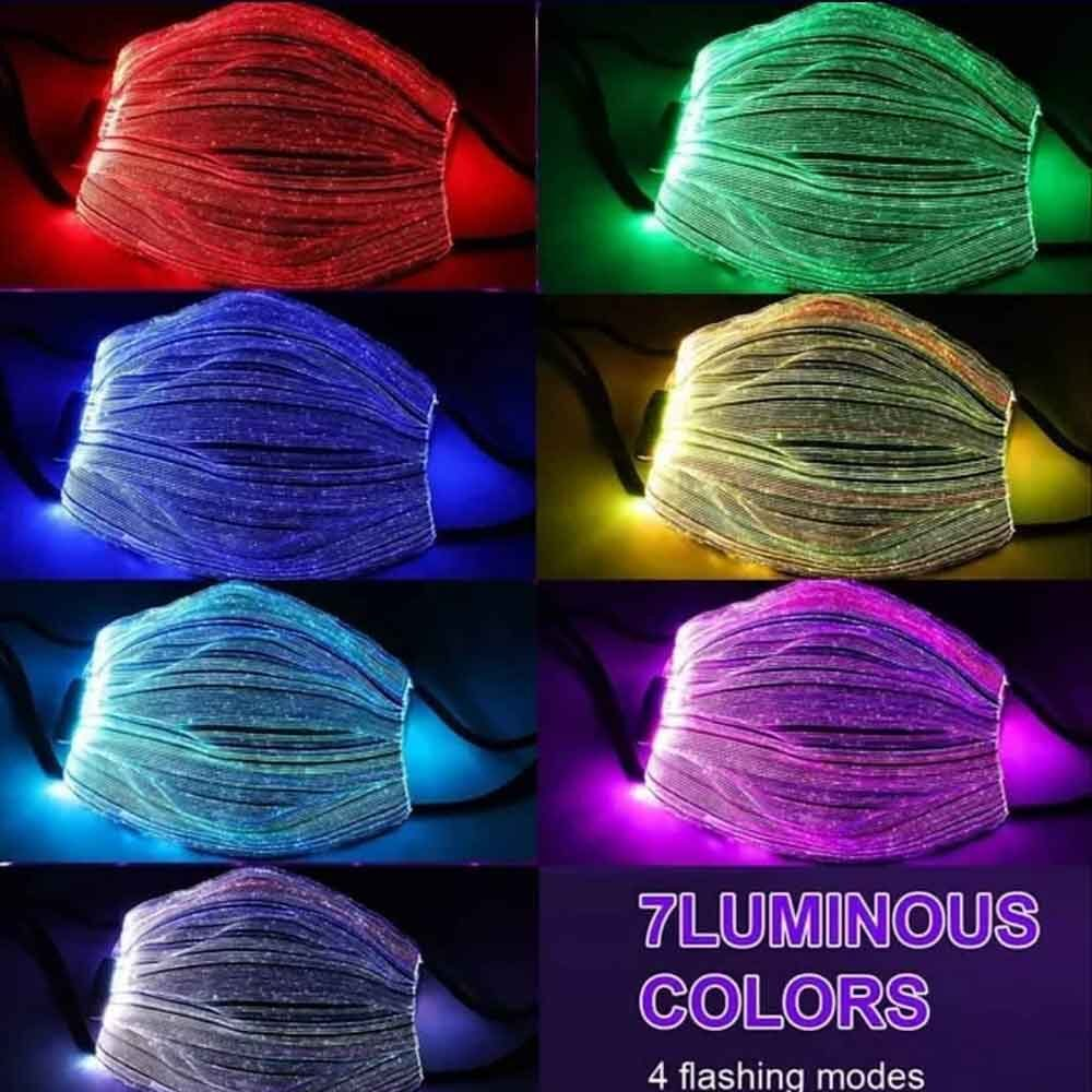 ماسک نوری LED با نور RGB