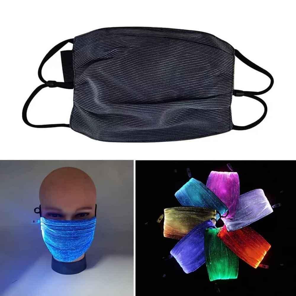 طراحی زیبای ماسک نوری LED با نور RGB